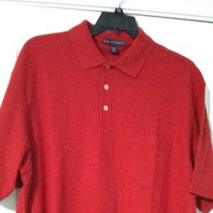 Port Authority red polo